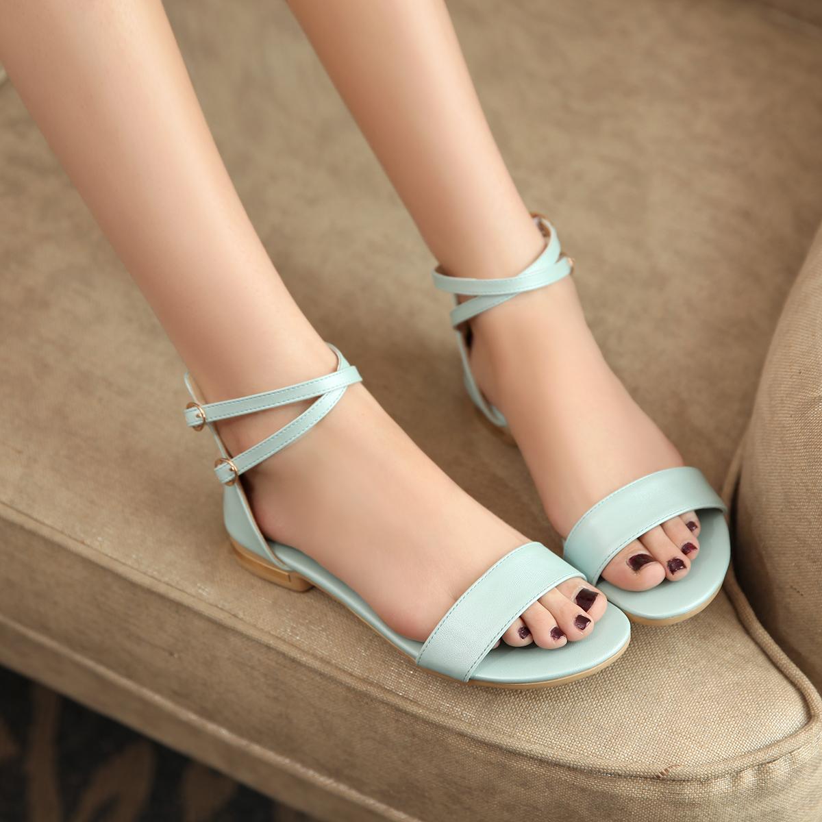 韩版新款软底平跟凉鞋