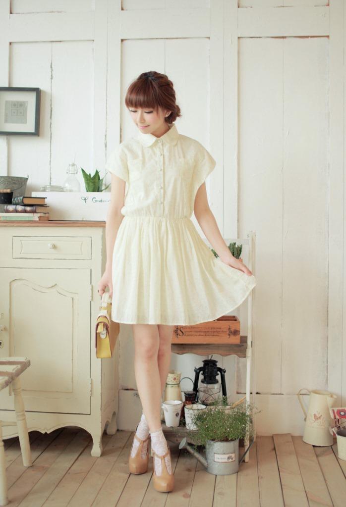 【文艺小清新花朵连衣裙】-衣服-裙子