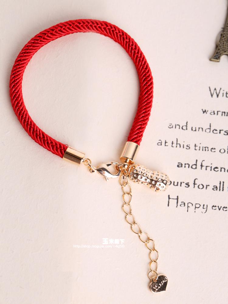 红绳头发手链分享展示图片