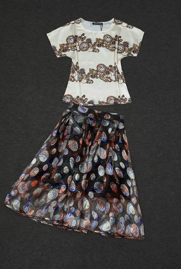 宫廷复古风蓬蓬裙套装
