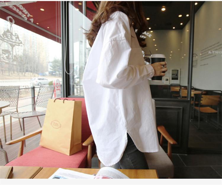 【韩国原宿bf风白衬衫】-衣服-衬衫