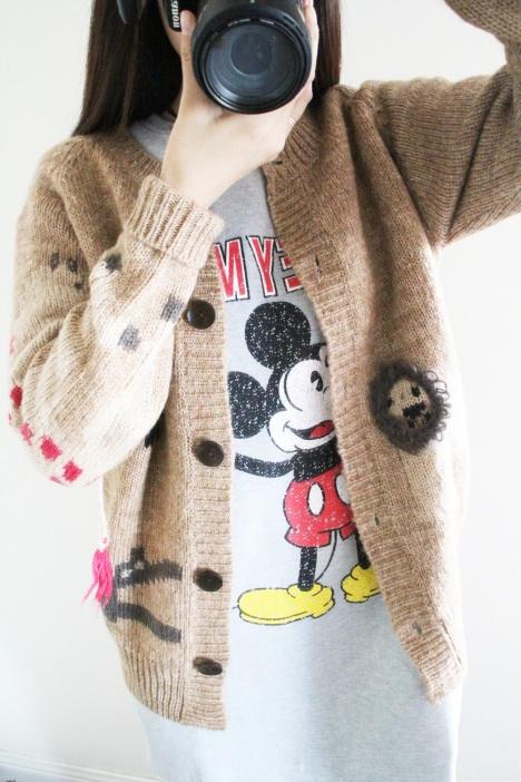 原单森系可爱小动物厚实毛衣外套