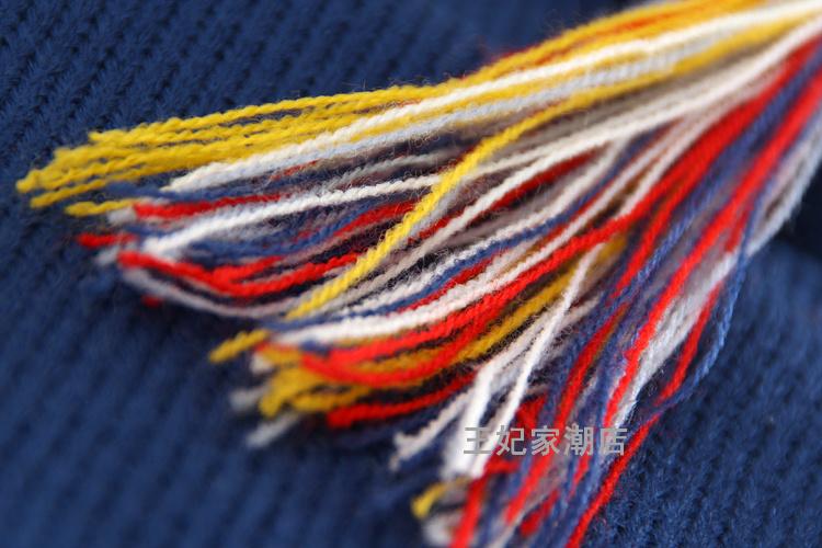 【彩色几何花朵麻花编织毛衣外套】-衣服-服饰鞋包