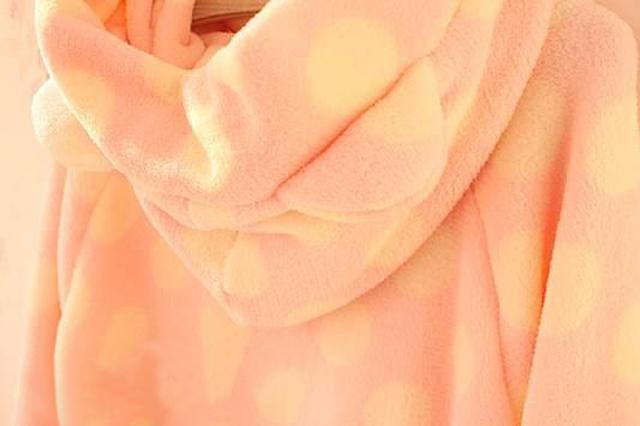 韩版秋冬款可爱卡通耳朵珊瑚绒睡衣