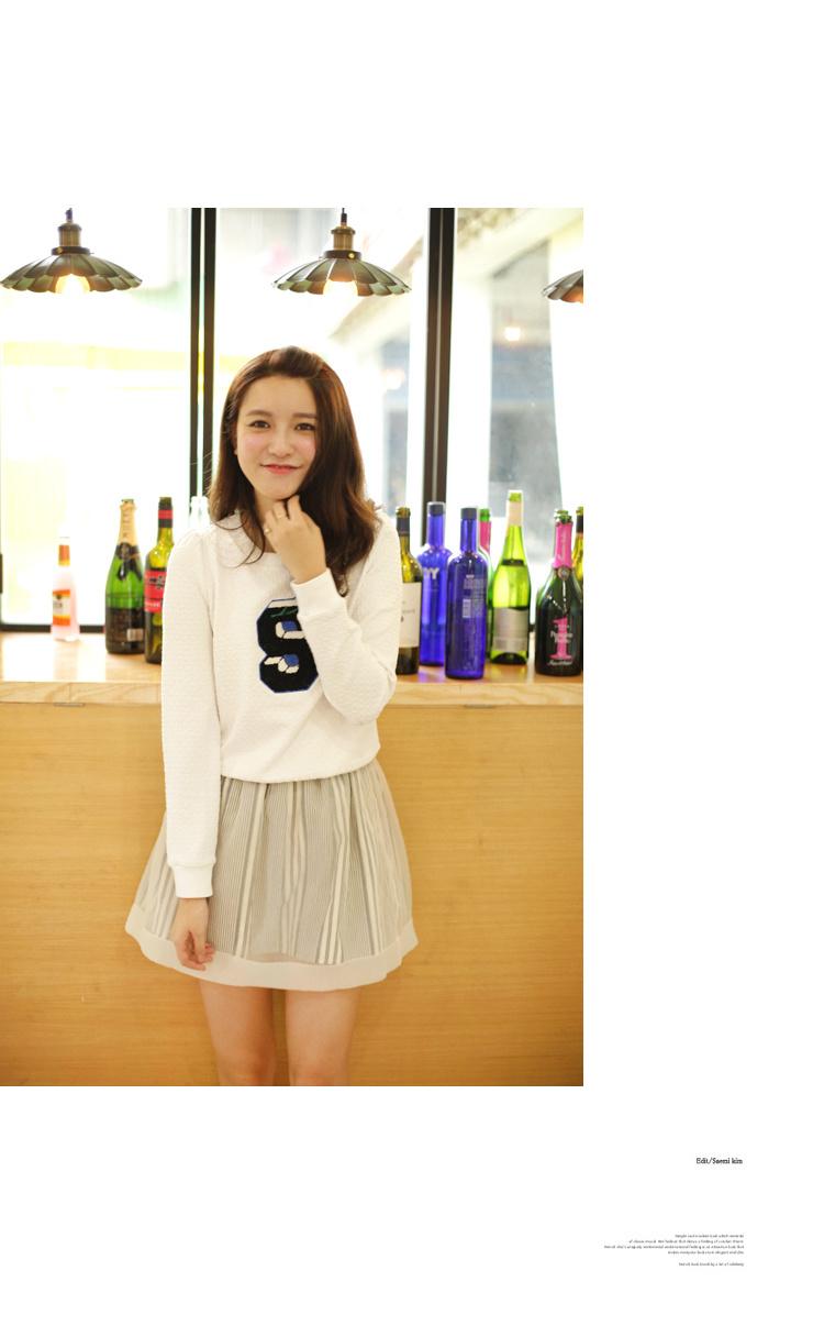 【【莉贝琳】字母绣花白色卫衣】-衣服-卫衣/绒衫