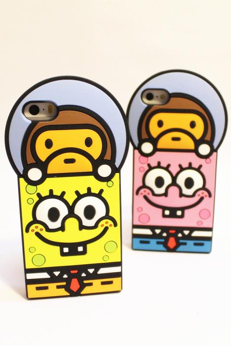 iphone5/5s立体海绵宝宝保护壳