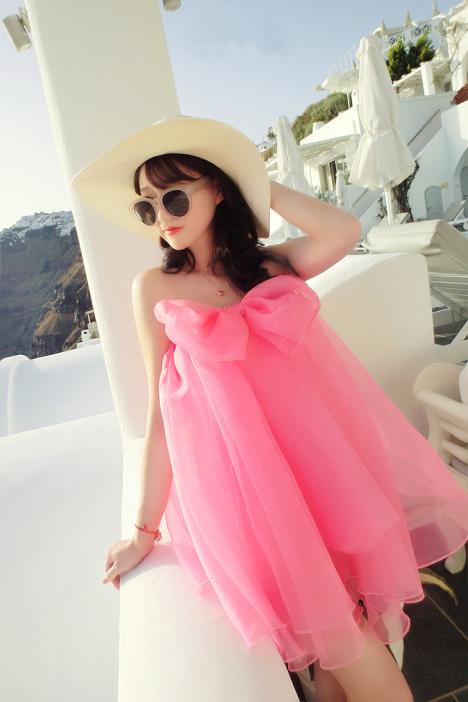 【kaki秀夏季沙滩可爱娃娃裙】-衣服-裙子_连衣裙_鞋