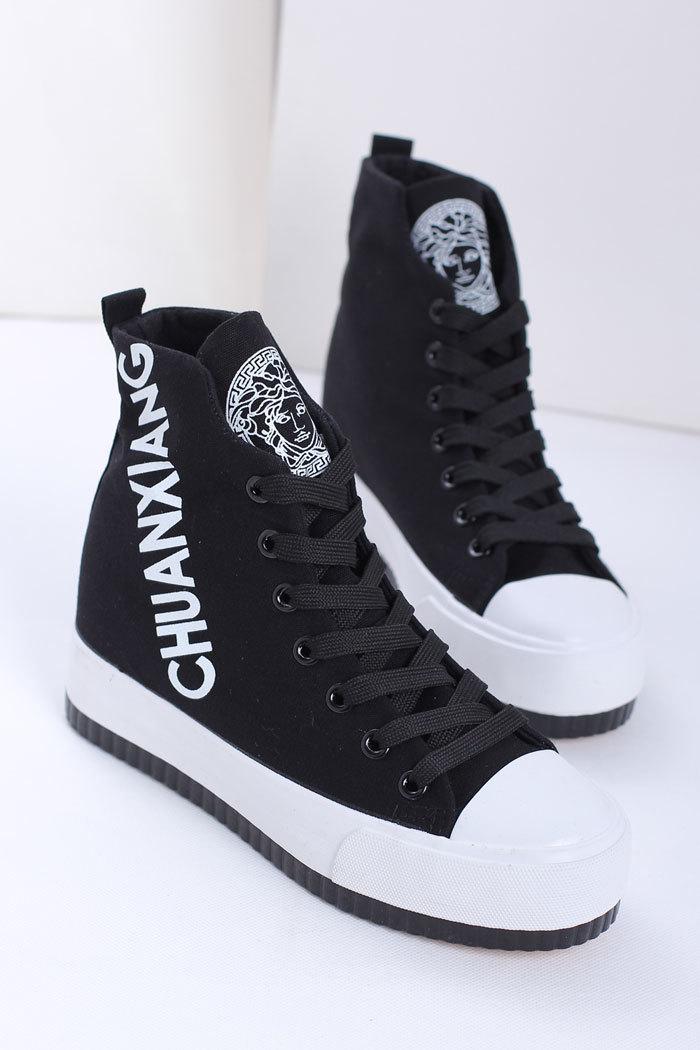 【潮范字母头像内增高鞋】-鞋子-帆布鞋