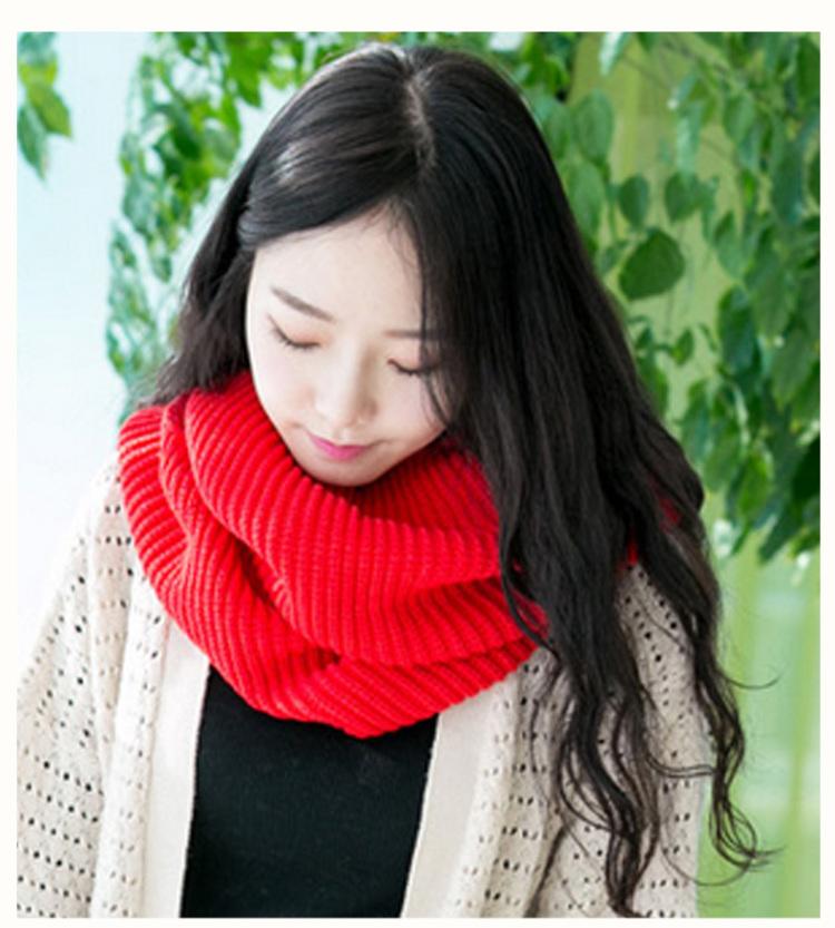 【韩版加厚毛线元宝针围脖】-衣服-女士配饰
