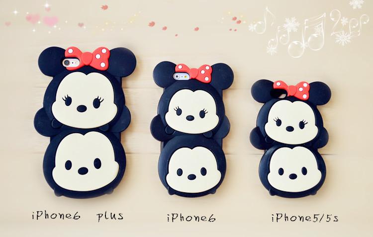可爱萌包子米妮苹果6卡通手机套