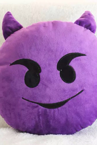 qq表情抱枕 圆形毛绒玩具靠枕