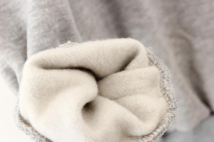 早春新款可爱娃娃加绒套头卫衣