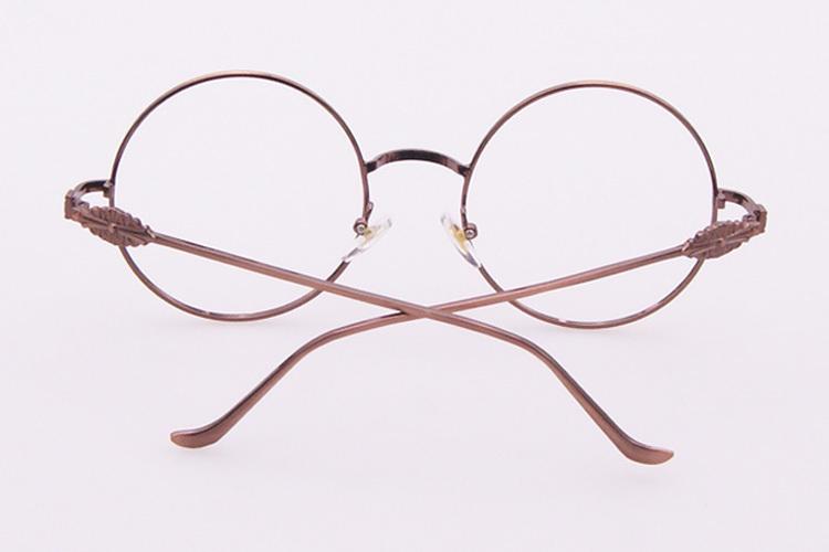 金属圆形克罗心复古眼镜框