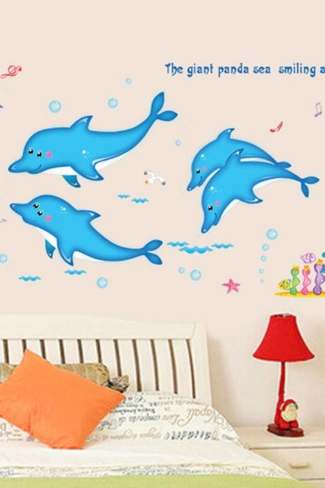 海豚手绘图片有颜色