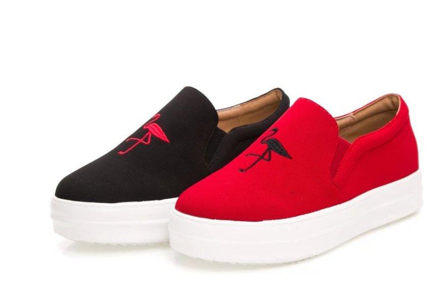 【t台秀 厚底仙鹤帆布鞋】-鞋子-帆布鞋_女鞋_服饰鞋