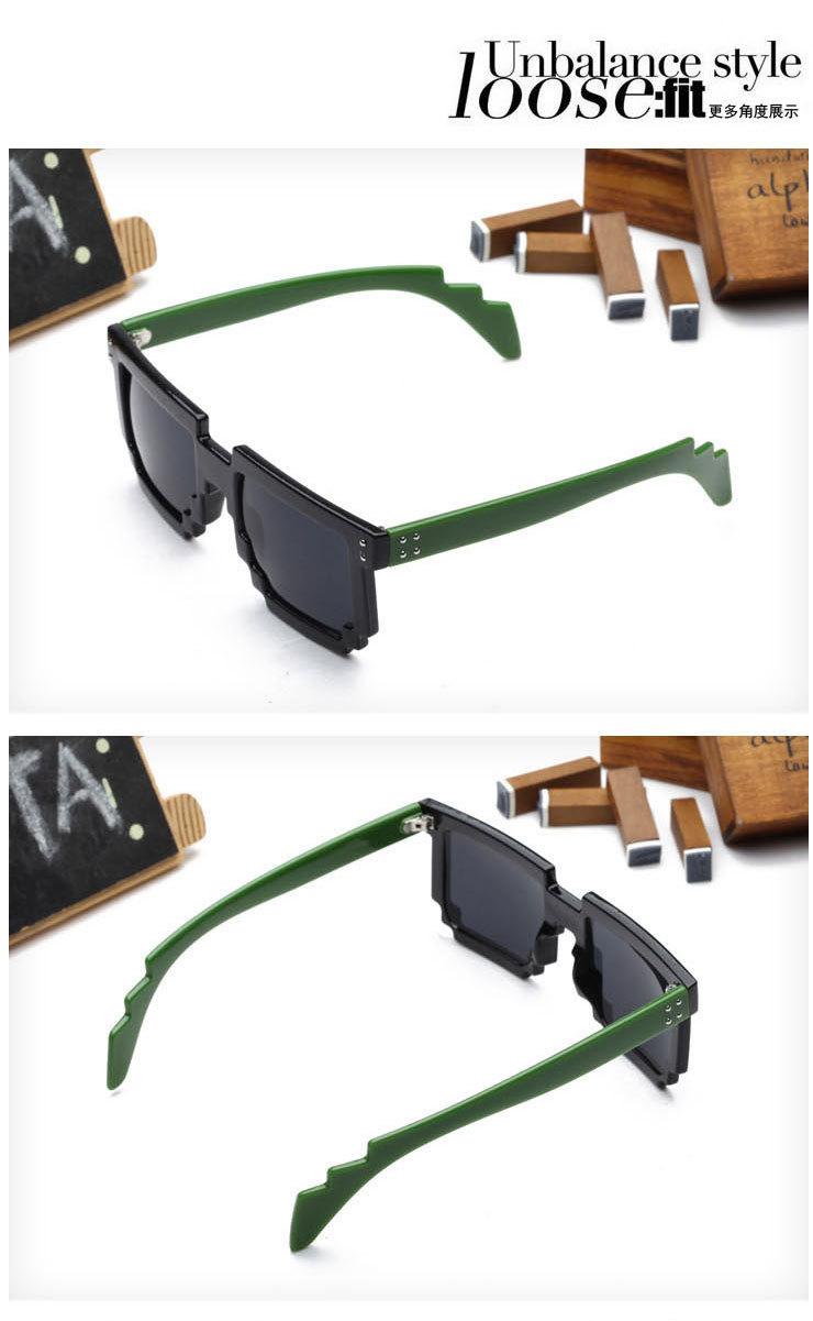 马赛克防紫外线墨镜