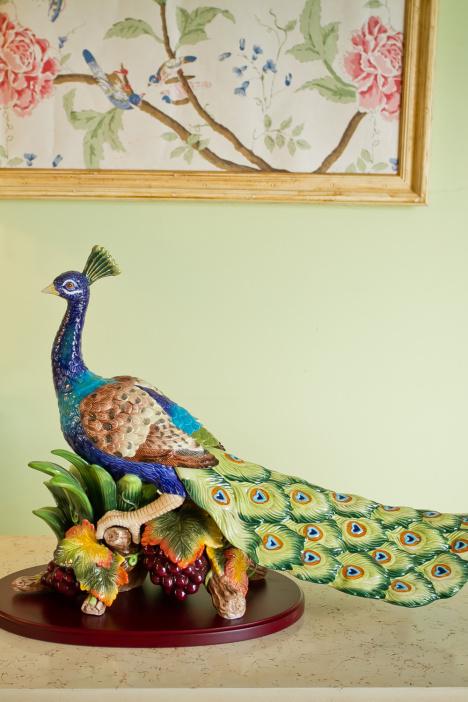 欧式陶瓷孔雀装饰品 送礼摆件