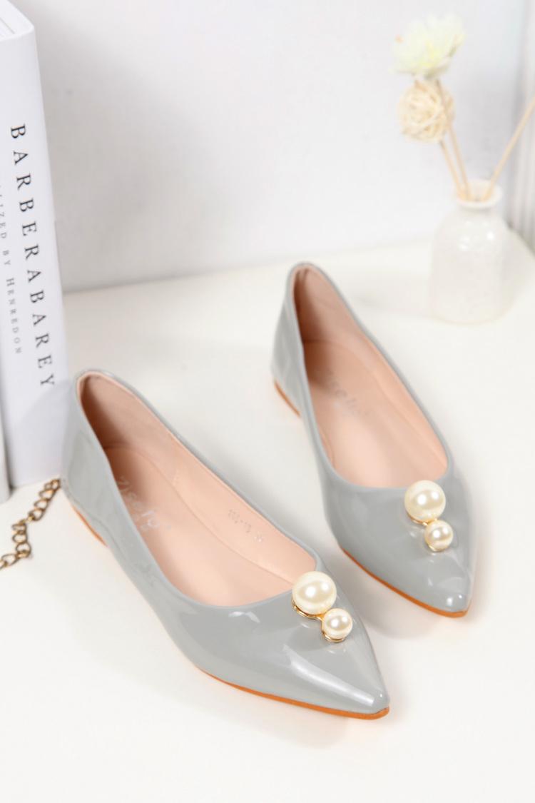 【优雅珍珠平底单鞋】-鞋子-女鞋