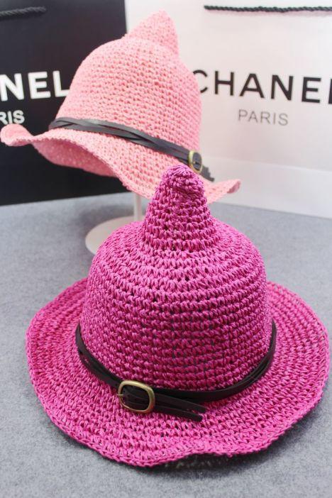 【手工编织奶嘴尖尖女巫帽】-配饰-帽子