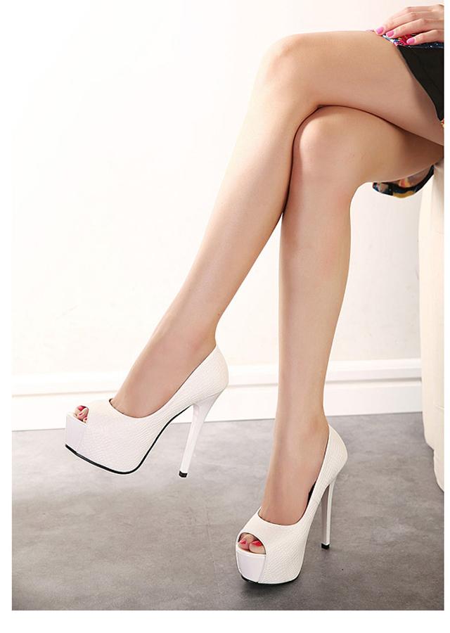 【韩国公主高跟鱼嘴鞋】-鞋子-单鞋_女鞋_服饰鞋包-小