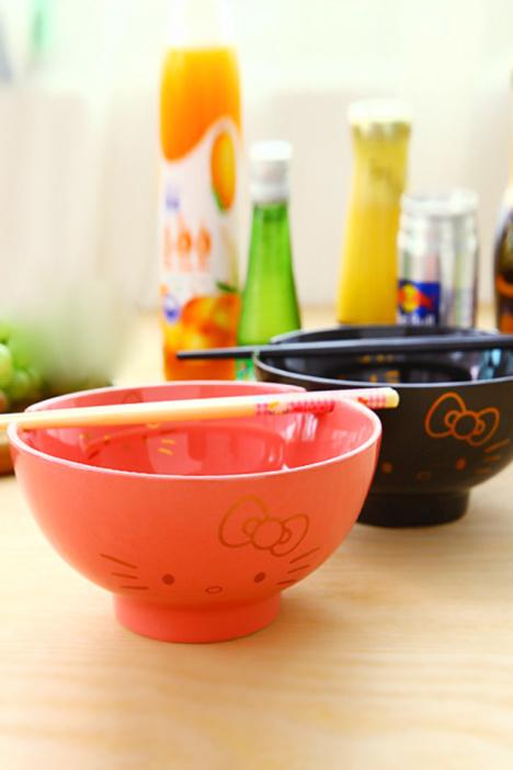hellokitty 可爱 情侣陶瓷碗