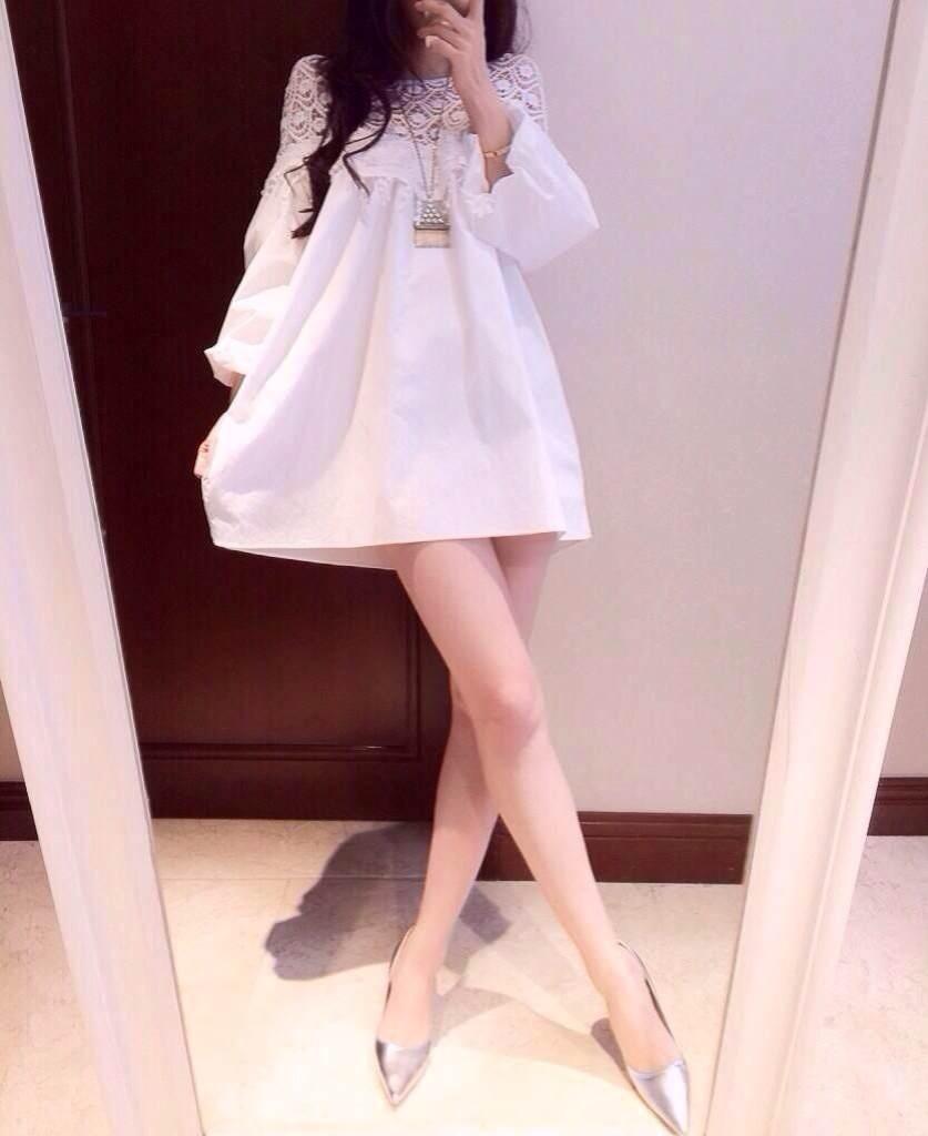 【艾薇 公主袖花边连衣裙】-衣服-连衣裙_裙子_女装