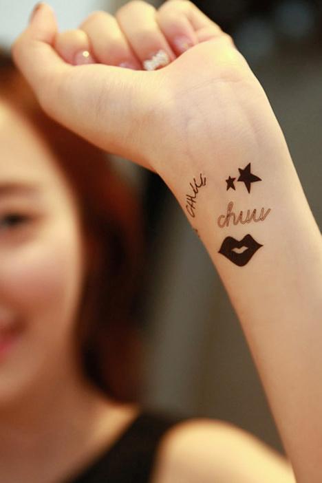 韩国chuu 防水 纹身贴纸