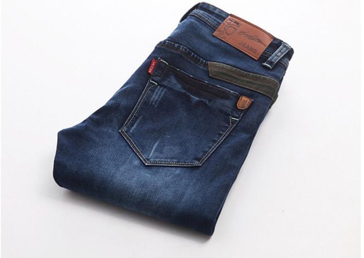 【男士弹力修身牛仔长裤】-衣服-牛仔裤