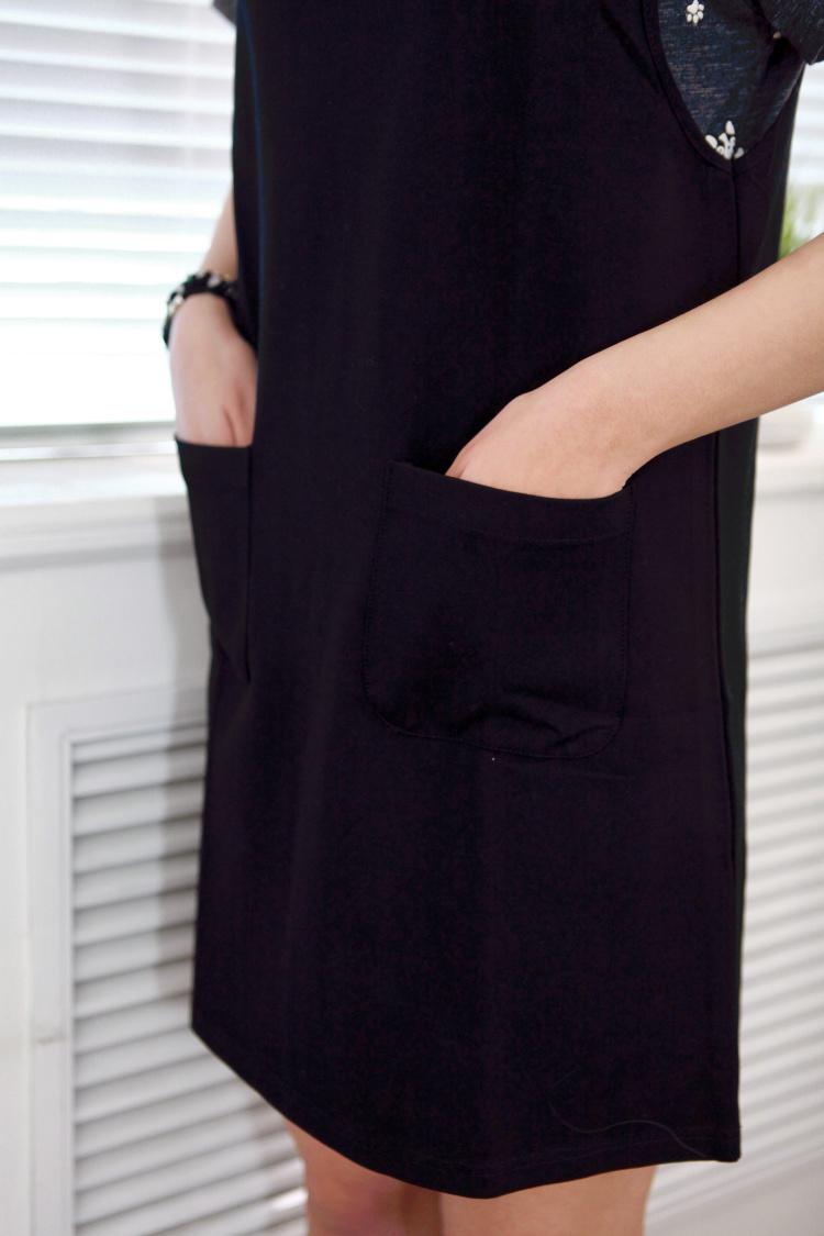 【柔软显瘦送条纹两件套黑色背带裙】-衣服-裙子