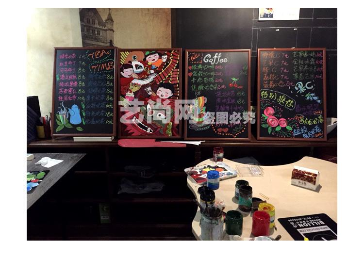 挂式磁性黑板咖啡店甜品店专用