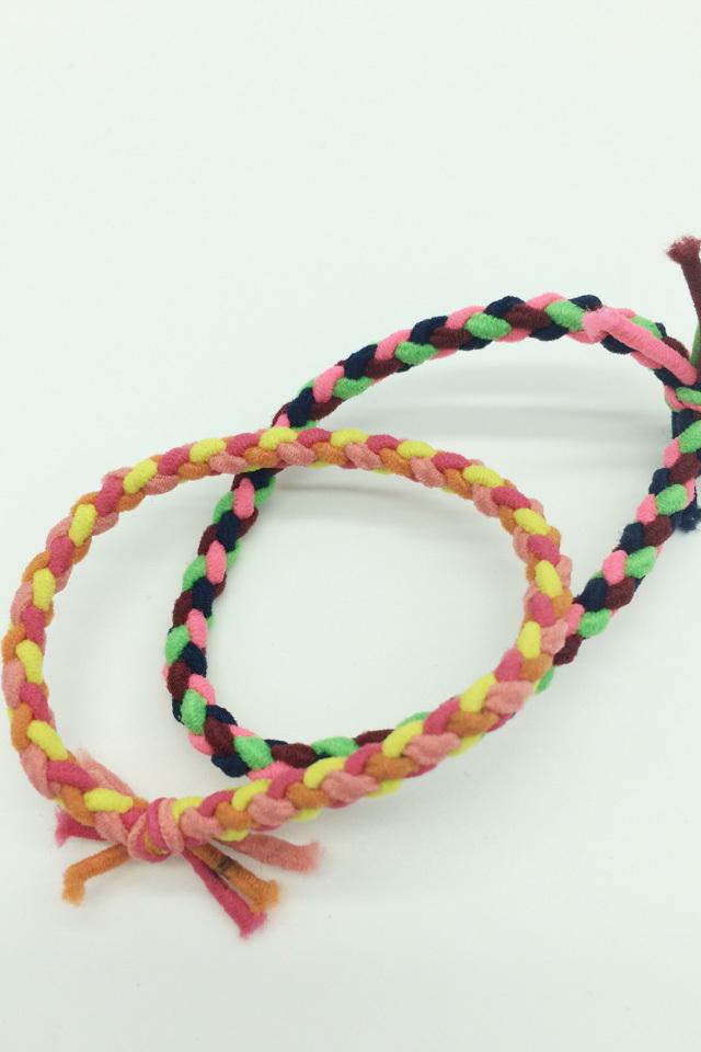 韩国进口发饰头饰发圈头绳高弹力扎头发皮筋原创手工编织手链 产品