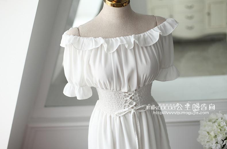 小清新雪纺跺(h�(�yil_尺码材质 size 材质:雪纺 图案:纯色 裙长:短裙(76-90cm) 风格:小清新
