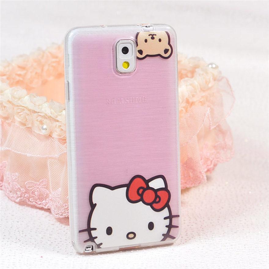 小可爱kitty拉丝硅胶三星手机壳