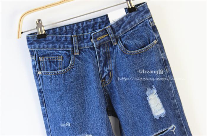 【【u家】破洞牛仔裤】-衣服-牛仔裤