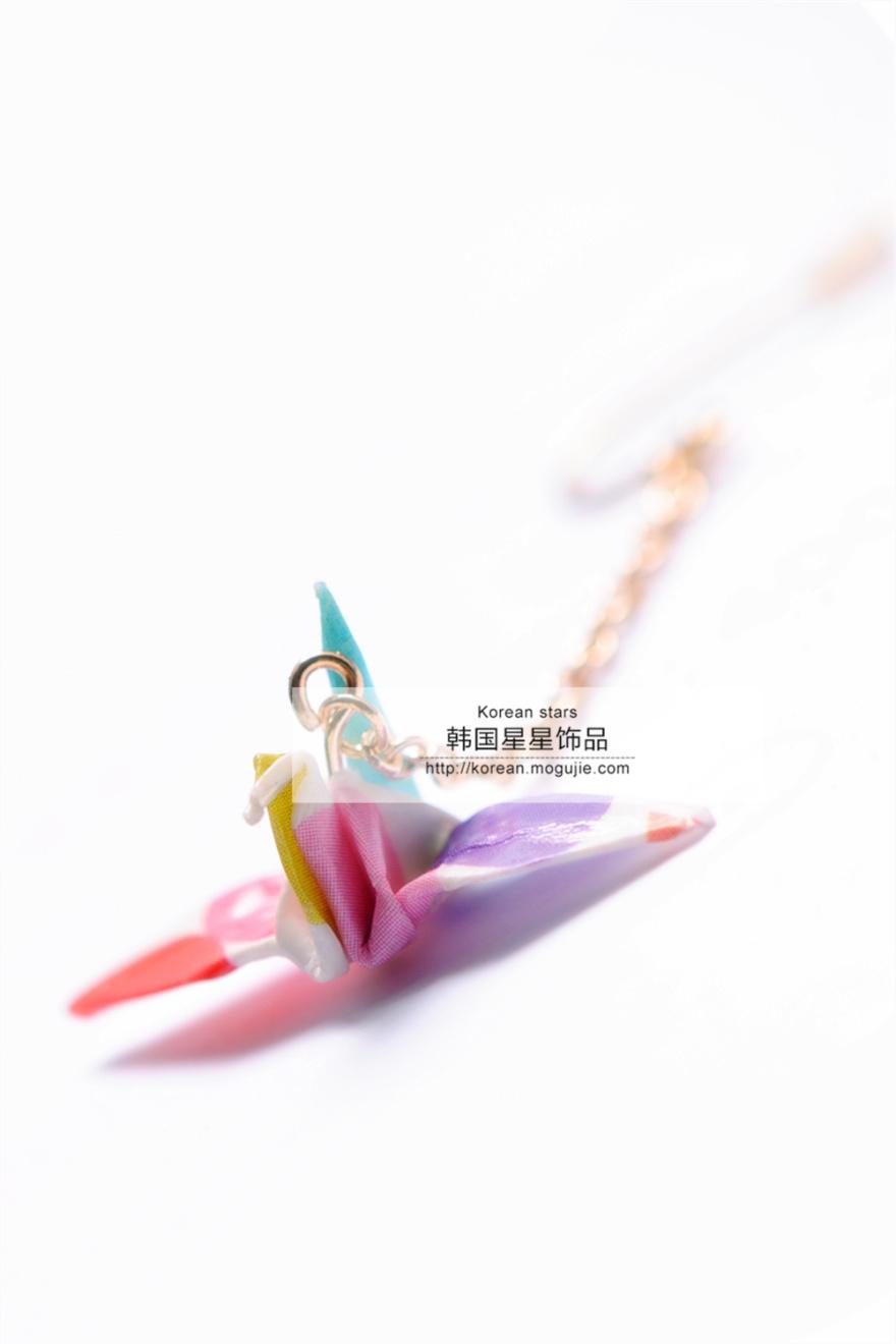 日本和风手作千纸鹤耳环单只