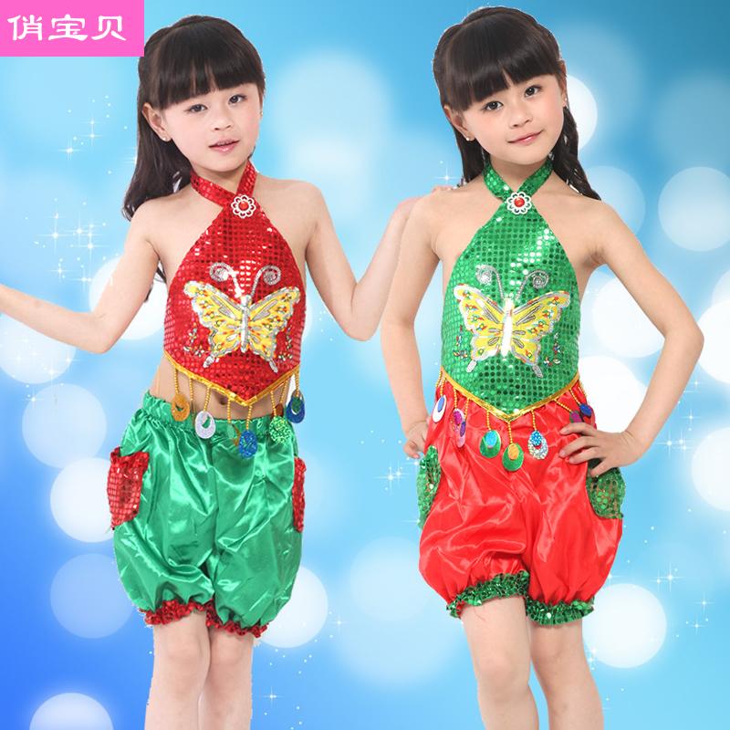 可返:17个集分宝,六一儿童演出服幼儿舞蹈服装女童跳舞腰鼓少儿幼儿园