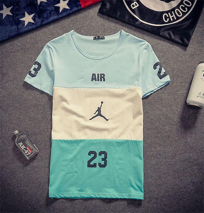 飞人乔丹logo印花t恤图片
