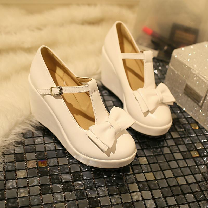 【《洛丽塔》甜美蝴蝶结高跟单鞋】-鞋子-单鞋_女鞋
