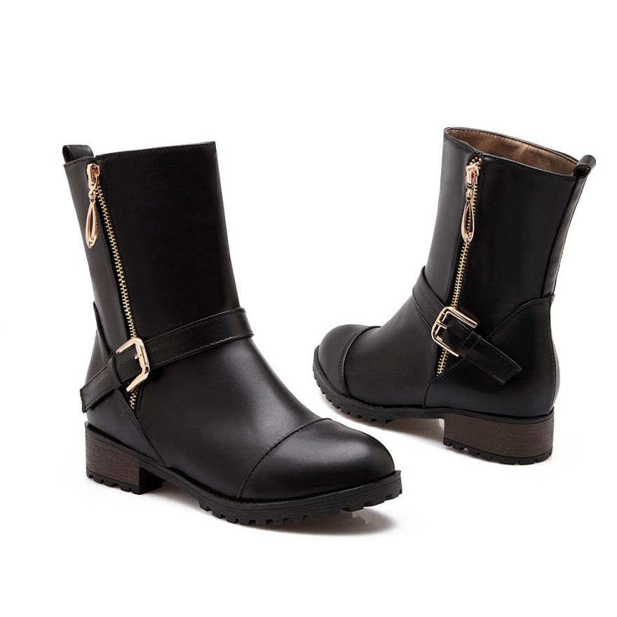 【《洛丽塔》欧美范低跟短靴】-鞋子-靴子_女鞋_服饰