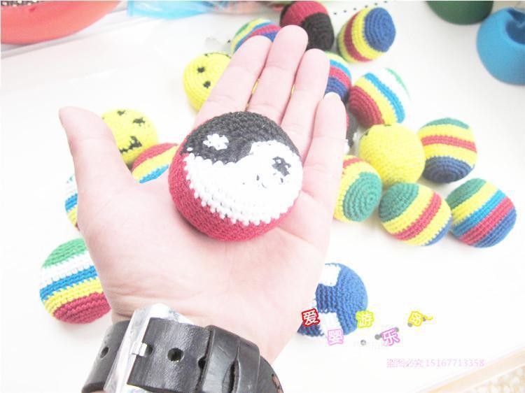 新彩色小沙包 毛线编织沙包丢沙包 幼儿园专用沙包 儿童玩具 怀旧