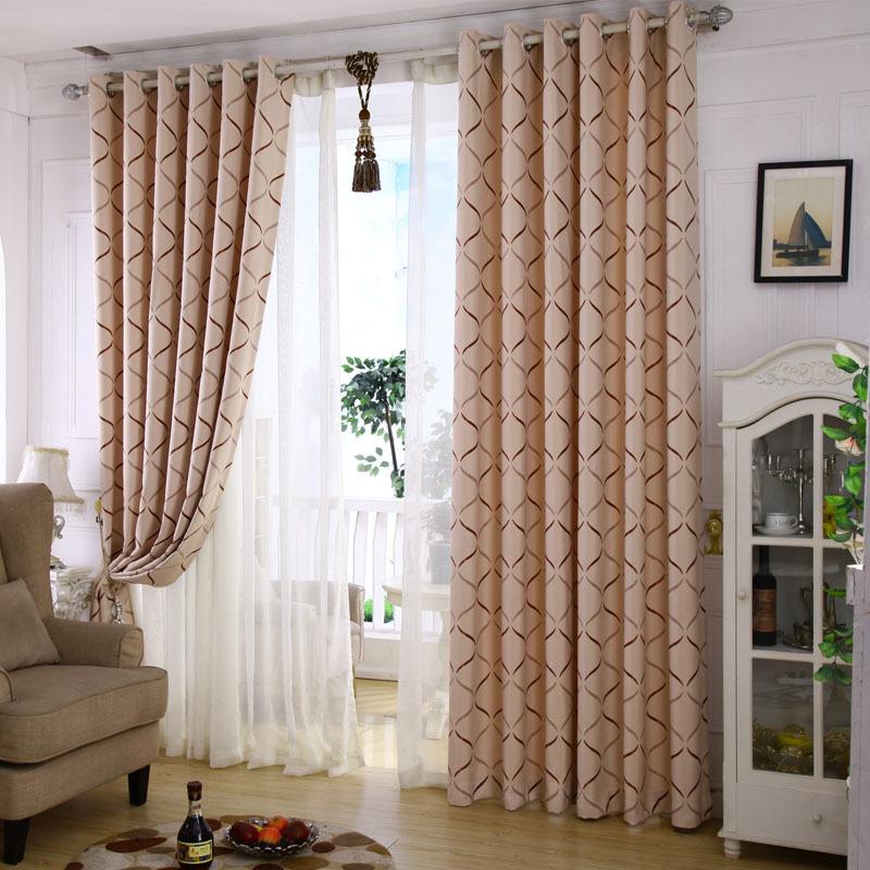 遮光窗帘布落地卧室欧式简约现代成品定制短窗帘成品