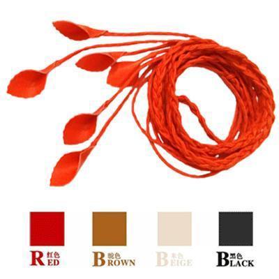 【手工编织树叶腰链细腰带腰封窄小】-无类目--龙塘红