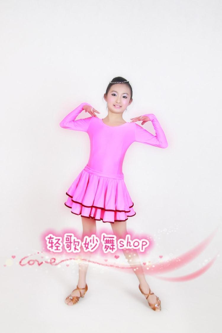 儿童拉丁舞裙女童少儿拉丁舞服装新款表演服比赛服演出服 规定服