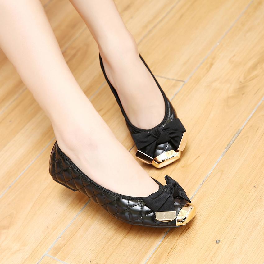 杺#j�j�9h��f_【新款pu方头平底蝴蝶结单鞋【j】--苌发挽莙杺的小店