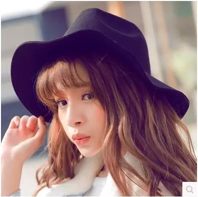 【女子帽子休闲时尚黑色光板复古羊】-无类目--薄荷