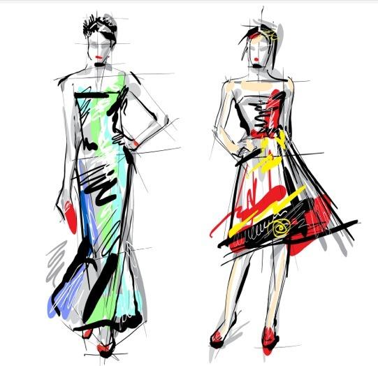 服装设计图模特手稿