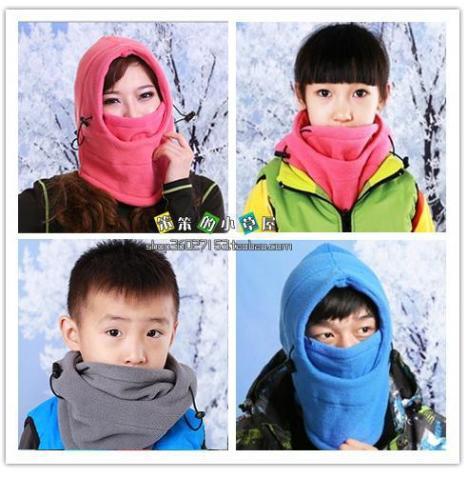 蒙脸围巾的戴法步骤图解
