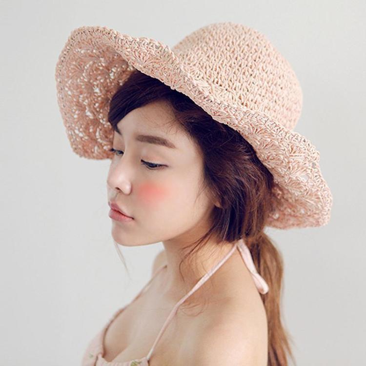 【帽子手工编织而成,编织花纹如孔】-无类目--蘑菇街