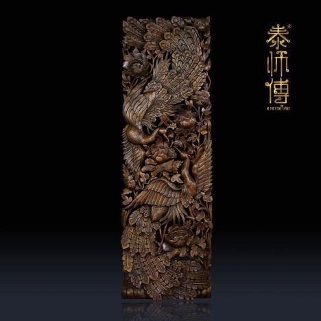 【泰国手工木雕/浮雕镂空孔雀电视】-无类目--泰师傅