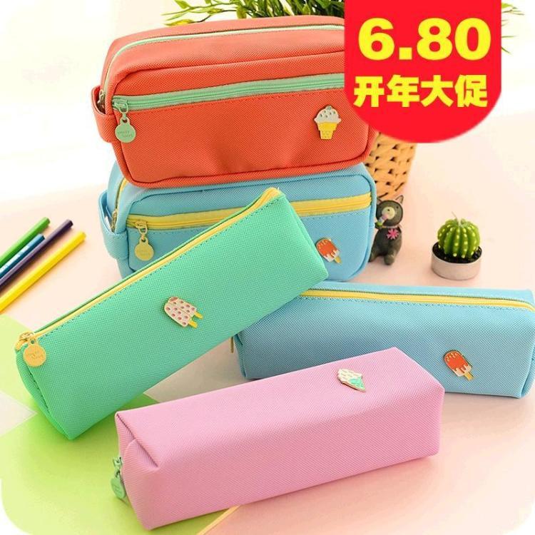 5236 笔袋文具盒女大容量 铅笔盒创意可爱简约笔袋韩国